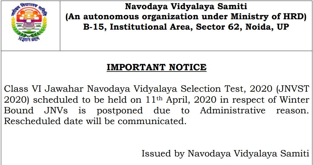 JNVST-Class-6-Exams-phase-2-postponed
