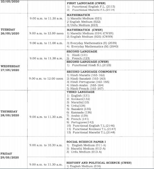 Goa-board-SSC-Dates-2
