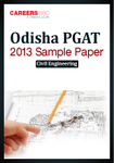 Odisha PGAT 2013 Sample Paper 2 Civil Engineering
