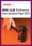 BHU LLB Entrance Exam Question Paper 2012
