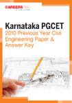 Karnataka PGCET 2010 Previous Year Civil Engineering Paper