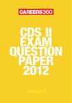CDS II exam question paper 2012- English
