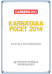 Karnataka PGCET 2014 Textile Technology Question Paper & Answer Key