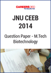 JNU CEEB 2014 M.Tech Biotechnology Question Paper