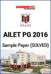 AILET PG 2016 Sample Paper - Solved