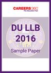 DU 2016 Sample Paper
