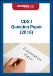 CDS 2016 Sample Paper