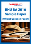 BHU UET BA Sample Paper 2016