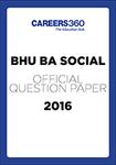 BHU B.A. Social Sample Paper 2016