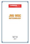 JNU MSc Biotechnology Sample Papers 2017– Set B