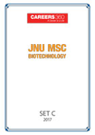 JNU MSc Biotechnology Sample Papers 2017- Set C
