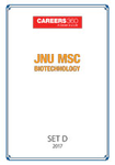 JNU MSc Biotechnology Sample Papers 2017- Set D