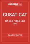 CUSAT CAT 5-year Integrated Sample Paper 2012