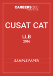CUSAT CAT LLB Sample Paper 2016