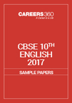 CBSE 10th Sample Paper 2017 English