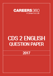 CDS 2 English Question Paper 2017