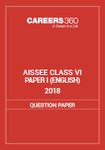 Sainik School Question paper 2018 (Paper-1) for Class VI