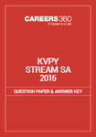 KVPY Question Paper 2016 Stream SA