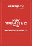 KVPY Question Paper 2016 Stream SB/SX