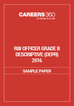 RBI Officer Grade B Descriptive Sample Paper (DEPR) 2016
