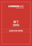 IIFT Question Paper 2015