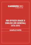 RBI Officer Grade B English Sample Papers (DR General) 2014-2015
