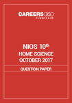 NIOS 10th Home Science Question Paper October 2017