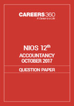 NIOS 12th Accountancy Question Paper Oct 2017