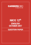 NIOS 12th English Question Paper October 2017
