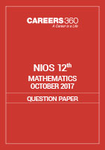 NIOS 12th Mathematics Question Paper October 2017
