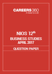 NIOS 12th Business Studies Question Paper April 2017