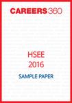 HSEE Sample Paper 2016