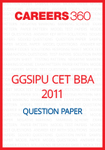 GGSIPU CET 2011 Question Paper