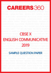 CBSE 10 English Communicative Sample Question Paper 2019