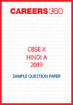 CBSE 10 Hindi A Sample Question Paper 2019