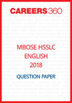 MBOSE HSSLC 2018 Question Paper English