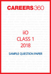 iiO Sample Question Paper Class 1 2018