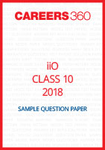 iiO Sample Question Paper Class 10 2018