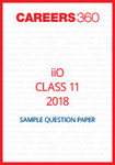 iiO Sample Question Paper Class 11 2018