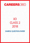 iiO Sample Question Paper Class 2 2018