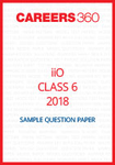 iiO Sample Question Paper Class 6 2018