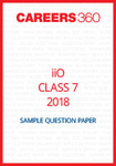 iiO Sample Question Paper Class 7 2018