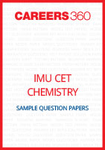 IMU CET Chemistry Sample Question Papers