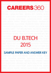 DU B.Tech 2015 Sample Paper