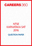 NTSE Karnataka SAT Question Paper 2016
