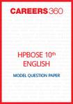 HP Board 10th English Model Question Paper