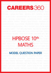 HP Board 10th Maths Model Question Paper