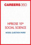HP Board 10th Social Science Model Question Paper