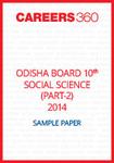 Odisha Board 10th Social science Part 2 Sample Paper 2014