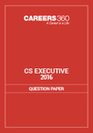 CS Executive Question Papers 2016